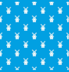 mill pattern seamless blue vector image