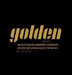 modern minimal style font design italic uppercase vector image