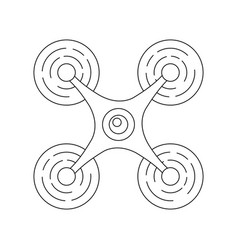 modern quadcopter drone with camera top view vector image