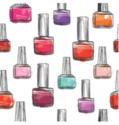 nail polish bottle pattern beauty salon vector image