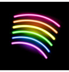 Neon rainbow vector