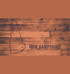New hampshire map brand vector