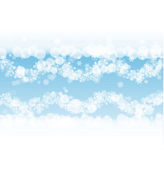 new year background with white frosty snowflakes vector image