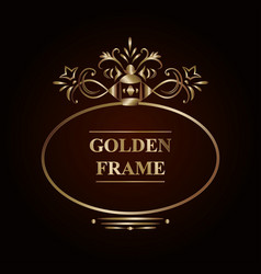 ornate golden frame vector image