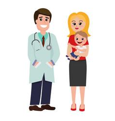pediatrician doctor vector image