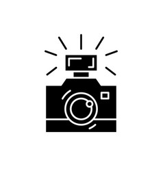 photography black icon sign on isolated vector image