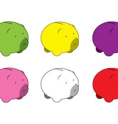 Piggy Banks Coloured vector