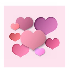Pink Abstract Background Hearts vector