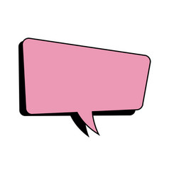 pink speech bubble dialog comic vector image