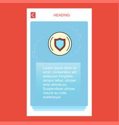 Protected sheild mobile vertical banner design vector