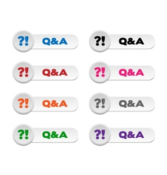Question and Answer buttons vector image