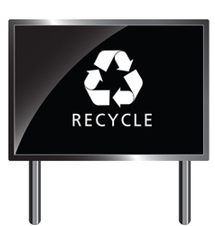 Recycle icon on billboard vector
