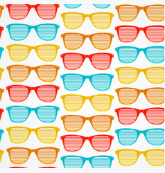 Retro striped sunglasses seamless pattern vector