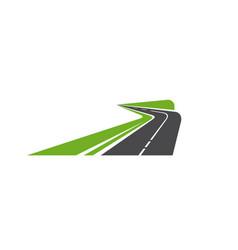 Road pathway or highway icon path way asphalt vector
