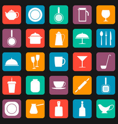 Seamless pattern background with kitchen utensils vector