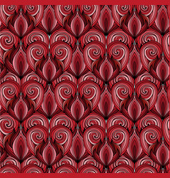 seamless texture with red doodle hearts with the vector image