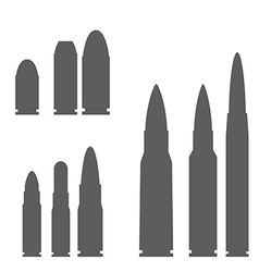 set bullets silhouettes vector image