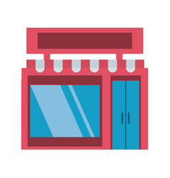 shop store building vector image