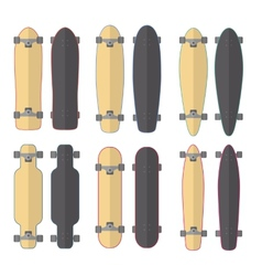 Skateboards and Longboards vector image
