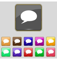 Speech bubble icons Think cloud symbols Set vector image