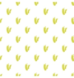 Spikelets of wheat pattern cartoon style vector
