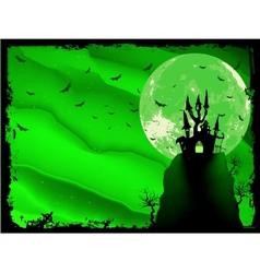 Spooky Halloween composition vector