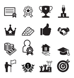 Success icon set vector