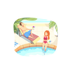 summer vacation holiday rest concept vector image