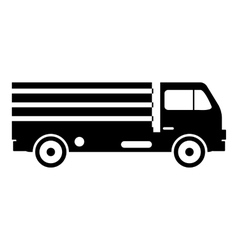 Truck with cargo icon simple style vector