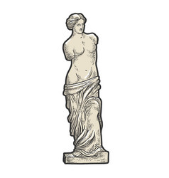 Venus de milo sketch engraving vector