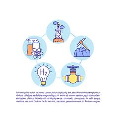 versatile application hydrogen concept line vector image