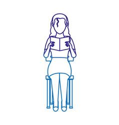 woman reading design vector image