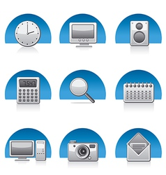 applications icons vector image vector image