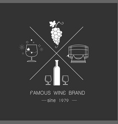 emblems and logos of wine vector image