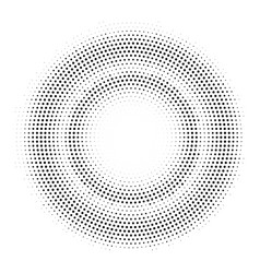 halftone double circle frame template vector image vector image