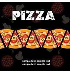 Pizza Menu Template vector image