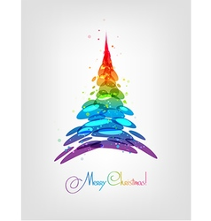 Abstract multicolored Christmas tree vector image vector image
