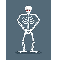 Angry skeleton Aggressive dead Evil skull and vector image