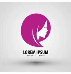beauty salon logo design template people vector image vector image
