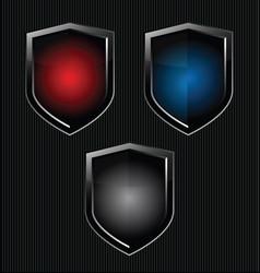 black shield retro vintage black design vector image vector image