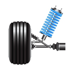 car suspension frontal view vector image