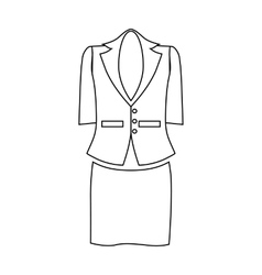 Ladies suit for business women icon outline style vector image