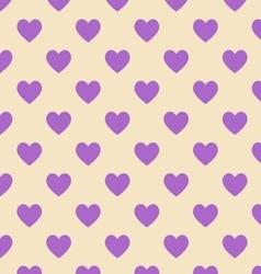 Seamless polka dot yellow pattern vector image vector image
