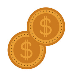 gold coins dollar money currency cash vector image