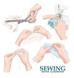 Sewing set vector