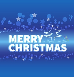 christmas blue card vector image vector image