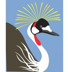 crowned crane vector image vector image