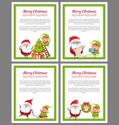 merry christmas helper santa vector image