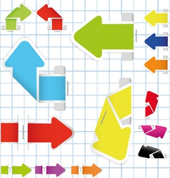 set of arrow and sticker vector image vector image