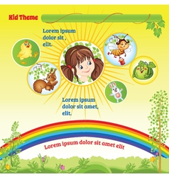 Sunny Kid template vector image vector image